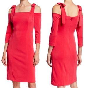 Eliza J Cold Shoulder Bow Accent Dress NWT